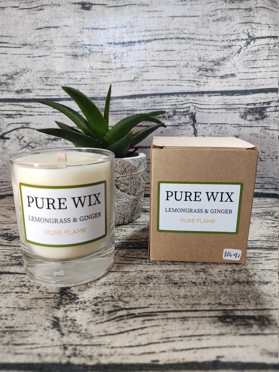 Lemongrass and Ginger Maple Wick Luxury Candle