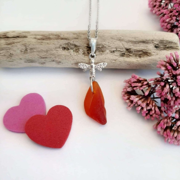 Red Sea Glass Pendant & Necklace